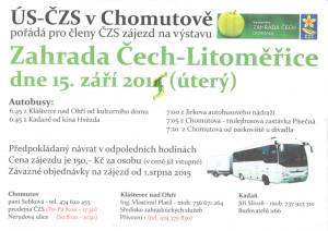 Plakát Zahrada Čech 2015